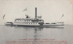 LAKE CHAMPLAIN, New York, 1898-1907; Steamer CHATEAUGAY