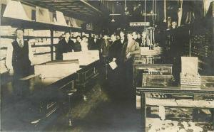 C-1910 Clothing Store interior Workers Mens Wear RPPC Photo Postcard 2056