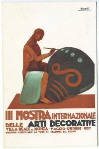 III Mostra International Decorative Art 1927 Milano Poster Type Postcard