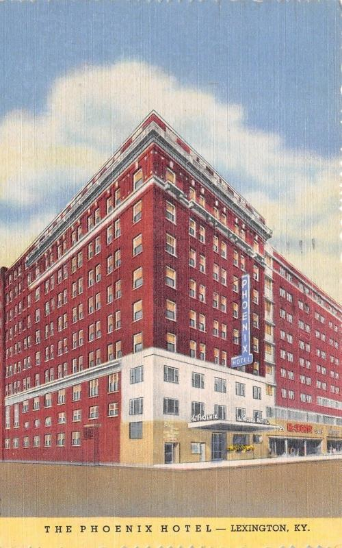 Lexington Kentucky~Phoenix Hotel~McCrory's~1954 Linen Postcard