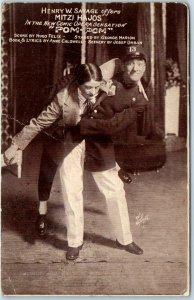 Vintage Chicago ILLINOIS THEATRE Advertising Postcard POM POM Play Ad 1916