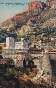 Monaco , Le Palais du Prince et la Tete de Chien , PU-1910