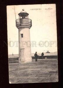 019713 FRANCE LIGHTHOUSE in CHERBOUG Close view Vintage PC