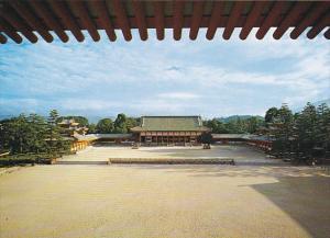 Japan Kyoto The Pavilion Of The Shrine The Heian Shrine