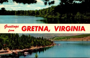 Virginia Greetings From Gretna With Lake Scene