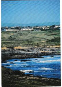 postcard Cornwall TREVOSE GOLF & COUNTRY CLUB from view Trevose Head unposted