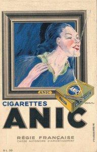 Art Deco Anic Cigarettes Smoking Advertisement 05.16