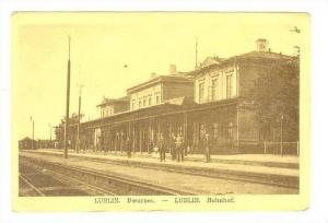 LUBLIN , Poland, PU-1916  Bahnhof / Dworzec , Train Station