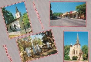 Downtown, Churches, And The Cemetery Jacksonville Oregon
