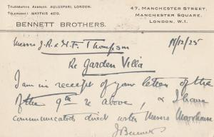 Bennett Brothers Manchester London Metal Recycling Industry 1925 Postcard
