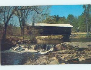 Pre-1980 COVERED BRIDGE Waterloo In Warner - Near Concord New Hampshire NH H8523