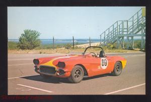 1962 CHEVROLET CORVETTE SCCA RACE CAR CHEVY VINTAGE ADVERTISING POSTCARD