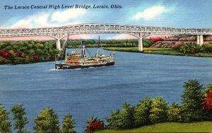 Ohio Lorain The Lorain Central High Level Bridge