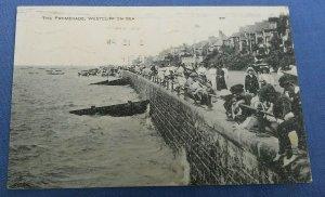 Vintage Postcard The Promenade Westcliff On Sea Essex Postmarked  1921 C1A