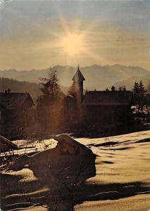 Switzerland Winterabend in Graubuenden (in Flims-Fidaz) Sunset