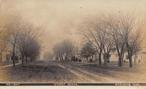 Woodbine Iowa~Residential Street Scene~Homes on Muddy Rutted Road~1910 RPPC