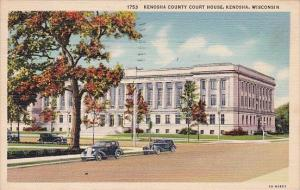 Wisconsin Kenosha Kenosha County Court House 1941