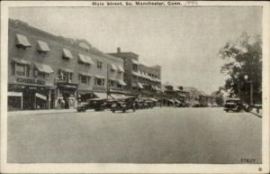 South Manchester CT Main Street c1920 Postcard