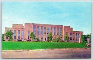 Jonesboro~Arkansas State College~Admin Bldg~Stone Pillars Gate~Trees/Shrubs 1956