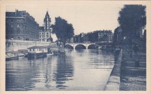 PARIS, France, 1900-1910's; Les Jolis Coins de Paris, Vers Le Pont Saint-Michel