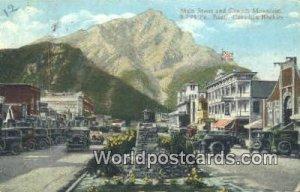 Main Street, Cascade Mountain Banff Canada 1935 Missing Stamp