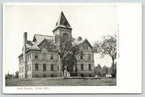 Ripon Wisconsin~High School Architects Create Beautiful Lines~c1910 UDB Postcard