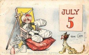 F58/ Patriotic Postcard c1910 Fourth of July 5th Comic Gene Carr 5