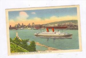 Steamer, Montreal From St. Helen´s Island, Montreal, Quebec, Canada, PU-1943