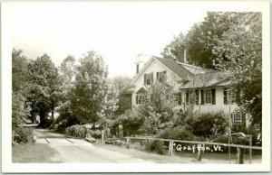 GRAFTON, Vermont RPPC Real Photo Postcard Road Scene House Church c1950s Unused