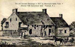 NJ - Freehold. Tennant Parsonage on Monmouth Battle Field