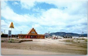 Raton. New Mexico Postcard I.J.&N. KOA KAMPGROUND A-Frame Office c1970s