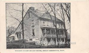 William Cullen Bryant House Great Barrington MA Unused