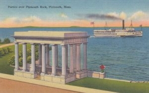 PLYMOUTH,Massachusetts, 1930-1940s ; Plymouth Rock