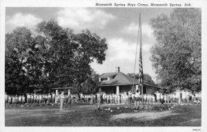 Arkansas 1930s Mammoth Springs Boys Camp Postcard Teich Palace 6698