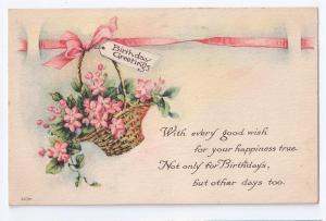 Arts & Crafts Birthday Poem Postcard Fair Co 1915 Postcard