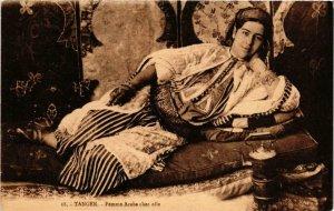 CPA AK TANGER Femme Arabe chez elle MAROC (688396)
