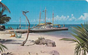 COZUMEL, Quintana Roo, Mexico, 1940-1960's; Pretty San Juan Beach
