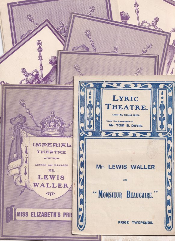 Lewis Waller 9x King Henry V Monsieur Beaucaire Vintage Theatre Programme s