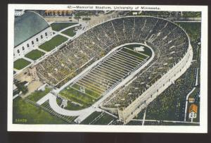 UNIVERSITY OF MINNESOTA GOLDEN GOPHERS FOOTBALL STADIUM VINTAGE POSTCARD