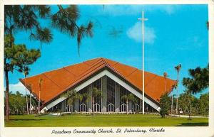 St Petersburg FL~Pasadena Community Church~1960~Postcard