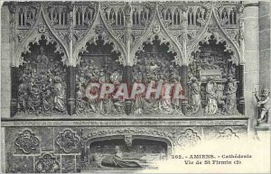 Old Postcard Amiens Life of St Firmin