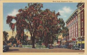 Connecticut Stamford West Park Street Scene 1944 Curteich