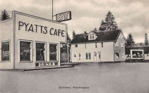 Quilcene Washington Pyatts Cafe and Hotel Vintage Postcard AA29636