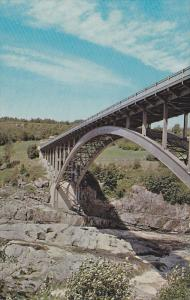 Aluminum bridge over Saguenay River , SHIPSHAW , Quebec , Canada , 50-60s
