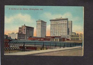 AL Skyline Birmingham Alabama Postcard Advertising Facts about City