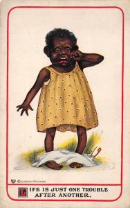 Black Americana~Artist MDS~Life is One Trouble After Another~Baby Loses Diaper