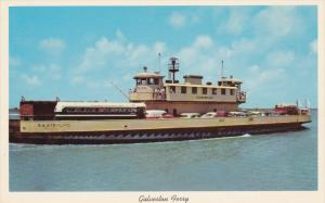 GALVESTON, Texas, 1950-1960's; Ferry Boat Connecting Galveston With Highway 8...