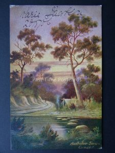 Australia Series CAMP BY THE RIVER Artist P. Campbell c1904 by Art Series