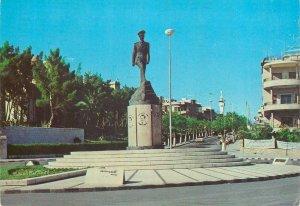 Syria Postcard Damascus Adnan Al Malki Square statue monument