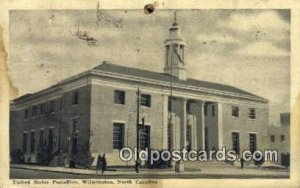 Wilmington, NC USA Post Office 1940 big pin hole top edge, stains front and b...